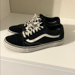 Plain black and white vans